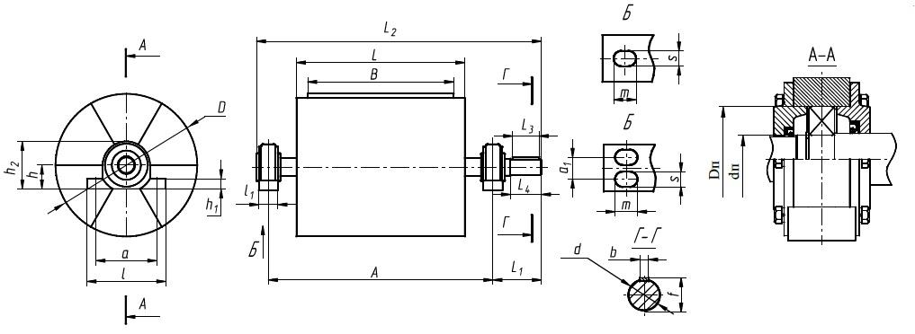 Приводной барабан ленточного конвейера чертеж