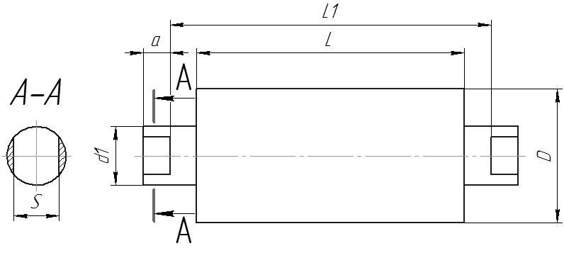 Конвейерные ролики типов Г, Ф, А, Н, НФ чертеж