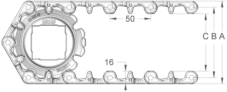 Модульная пластиковая конвейерная лента S. 50-808