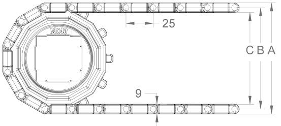 Модульная конвейерная лента S.25-400 чертеж