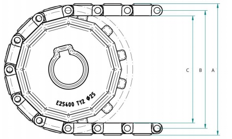 Модульная конвейерная лента S. 25-413 чертеж