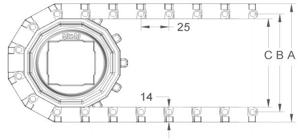 Модульная конвейерная лента S. 25-420 чертеж