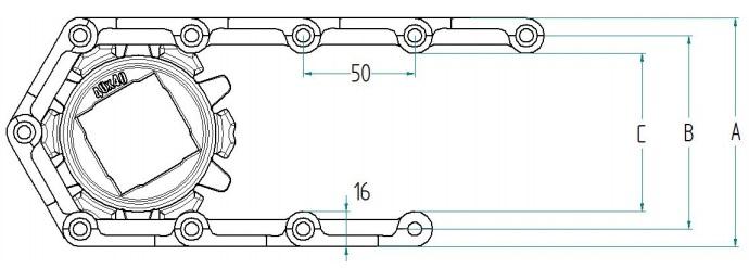 Модульная конвейерная лента S.50-701 чертеж