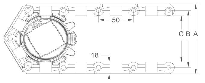 Модульная конвейерная лента S.50-602 чертеж
