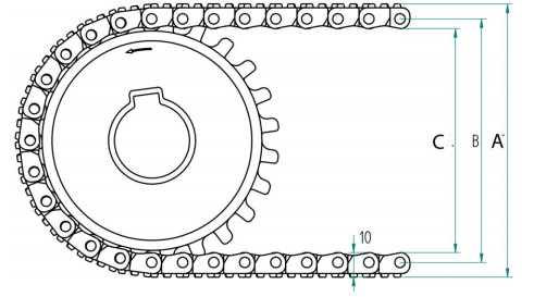 Модульная конвейерная лента S.12-438 чертеж
