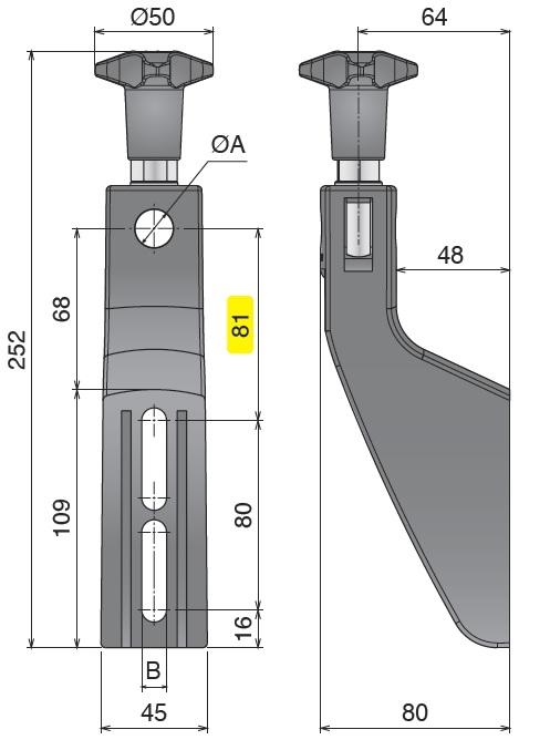 Боковой кронштейн конвейера серии 306 чертеж