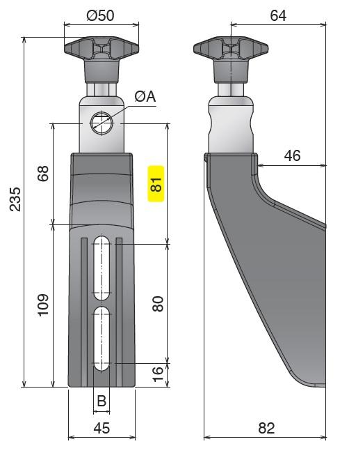 Боковой кронштейн конвейера серии 308 чертеж
