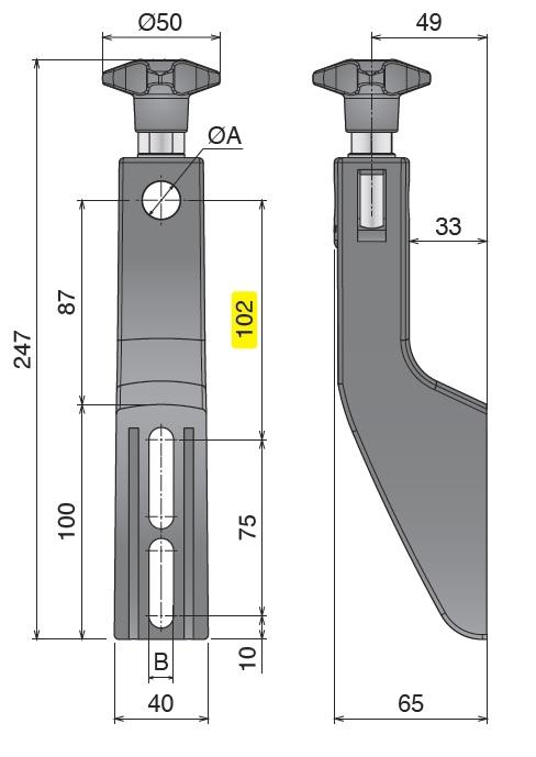 Боковой кронштейн конвейера серии 309 чертеж