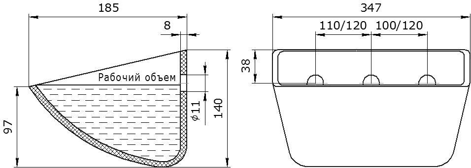 Ковш норийный полимерный SPS 330-180 HDP