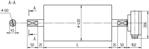 Чертеж барабана для ленточного конвейера наклонный скребковый транспортер